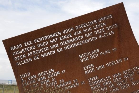 Katwijk aan Zee, monument poem, 17 September 2017