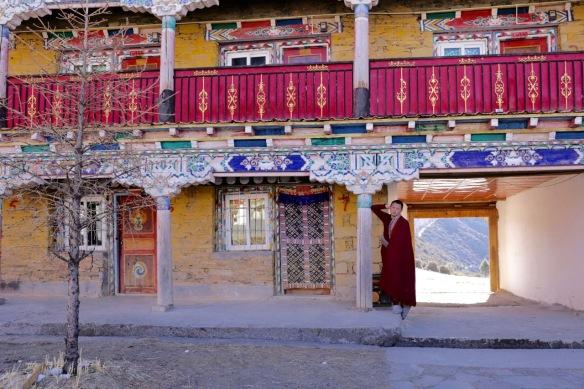 Pamuling Tibetan Buddhist monastery monk, 3 April 2018