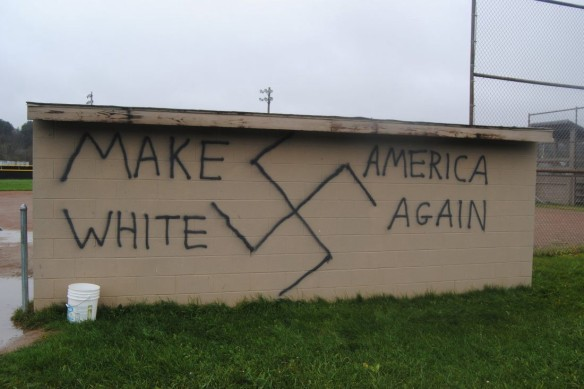 Racist graffiti in the USA