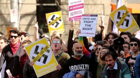 United States anti-nazi demonstrators