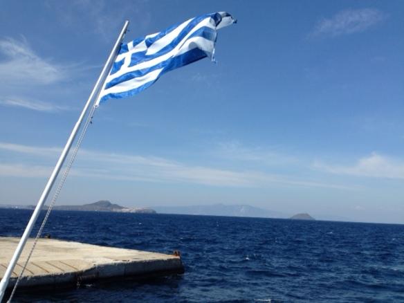 Greek flag, 18 April 2019